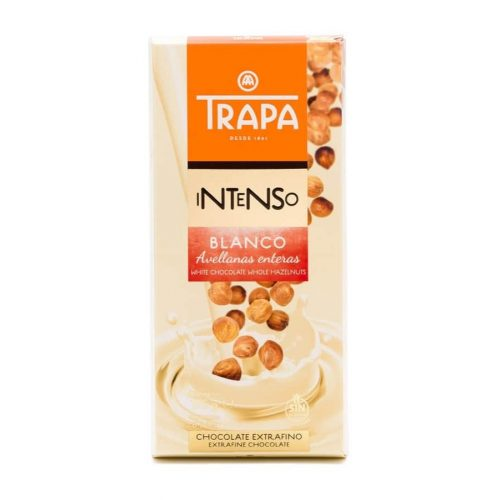 Trapa Intenso Blanco Avellana 175g - Fehércsokoládé egész mogyoróval