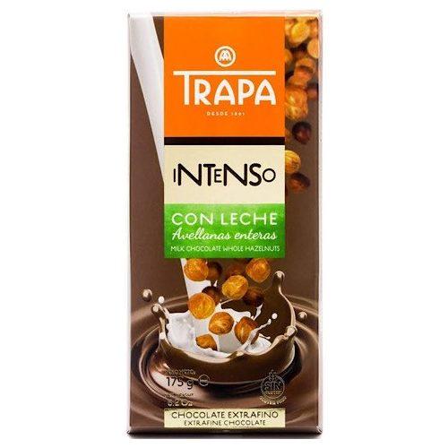 Trapa Intenso Leche Avellana 175g - Tejcsokoládé  egész mogyoróval