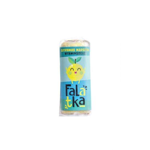 Falatka - Citromos marcipán vitaminszelet 37g (Laktózmentes, gluténmentes, paleo, vegán, nyers)