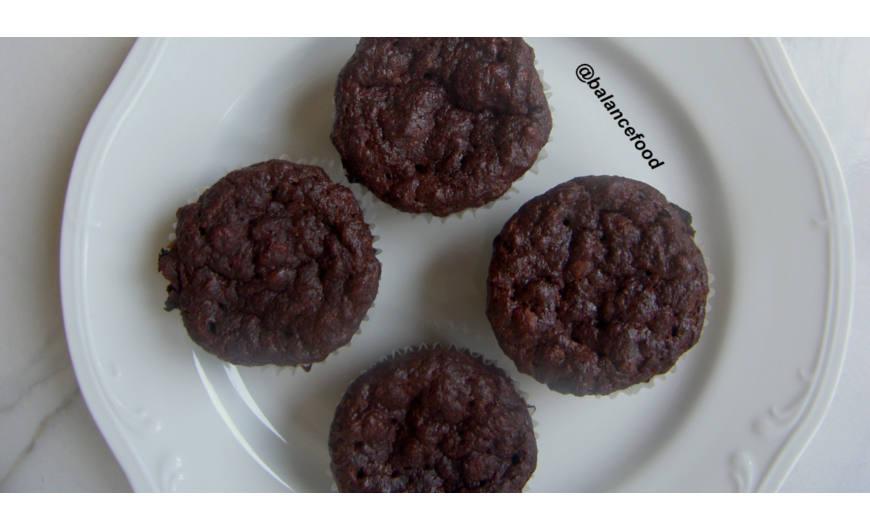 Csokis banános muffin (gluténmentes, laktózmentes, cukormentes)